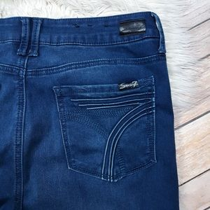 Seven7 | High Rise Dark Wash Skinny Ankle Jeans